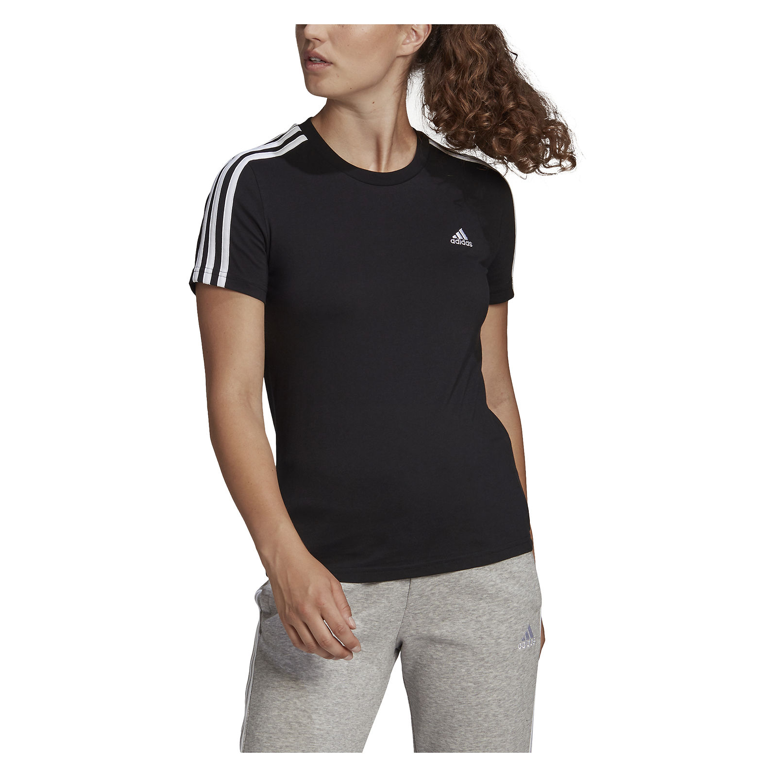 Koszulka damska adidas Loungewear Essentials Slim 3S GL0784